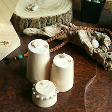 Plain Wooden Cylinder Bracelet Bangle Jewelry Display Stand Holder Organizer DIY
