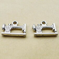 2-50pcs 20x15mm Antique silver sewing machine Tibetan Jewellery Pendants Charms
