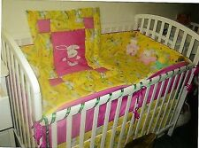 Baby room bedding-crib sheet, quilt, diaper stacker, bumper pads and more