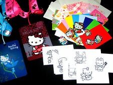 COOL CARDZ REFILL POUCHES, INCLUDING free hello kitty lanyard stickers & inserts