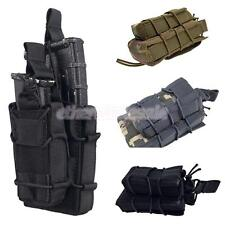 Molle Tactical Military Double Rifle / Single Pistol Holster Magazine Pouch Bag