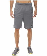 Adidas Big & Tall Shorts Mens Essential Gray 3 Stripe Performance ClimaLite Mesh