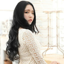 Womens Girls Ladies Fashion Wavy Curly Long Hair 5 Clip HairPiece Wigs