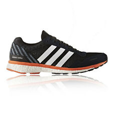 Adidas Adizero Adios Mens Orange Black Running Sports Shoes Trainers Pumps
