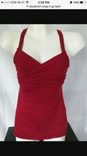 Lululemon Wrap It Up Tank 10 cranberry Red NWT & Tote