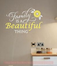 Family Is A Beautiful Thing Wall Decals Stickers Vinyl Lettering Art Home Decor