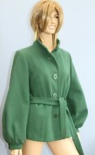 Redherring Green Wool Mix Mid Length Jacket Coat with Belt Size 14