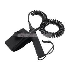 Black 10/12' Double-swivel Surfboard SUP Stand UP Paddle Board Coiled Leash