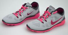 NIKE WOMAN SNEAKER SHOES GREY AND FLUO PINK CODE FREE 5.0 TR FIT 5 BRTHE 718932