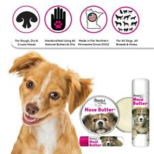 MIXED BREED LABEL DOG ALL NATURAL NOSE BUTTER FOR ROUGH DRY DOG NOSES TINS/TUBES