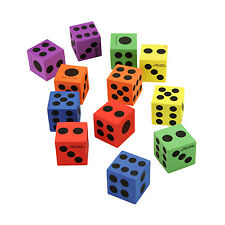 Large Jumbo Foam Dice Colorful Playing Fidget Classroom Toy Educational Games