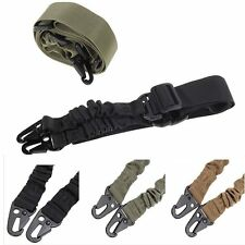 Adjustable Hunting 1 One Point Rifle Sling Bungee Tactical Shotgun Strap Syste#V