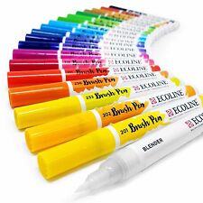 Royal Talens Ecoline Liquid Watercolour Paint Drawing Brush Pen - All Colours