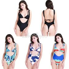 Women Two Piece Monokini Push Up Padded Bikini Swimwear Bathing Beach Swimsuit