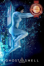 NEW GHOST IN THE SHELL JUMPING THROUGH GLASS 2017 MOVIE PRINT - PREMIUM POSTER