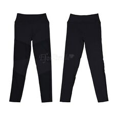 Womens YOGA Workout Gym Sports Mesh Pants Leggings Fitness Stretch Trousers S-L
