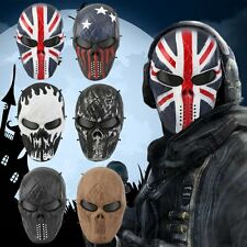 Airsoft Paintball Tactical Full Face Protection Skull Mask Skeleton Army OutdoVB