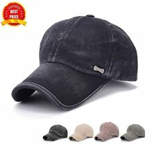 2017 New Style Men Cotton Solid Color Baseball Cap Spring Summer Sun Shade Cap F