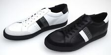 BIKKEMBERGS MAN SNEAKER SHOES BLACK OR WHITE LEATHER CODE. BKE108237 - BKE108238