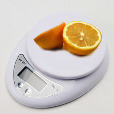 Digital Kitchen Scale Compact Diet Food 5KG 11LBS x 1g w/ Bowl Electronic GV