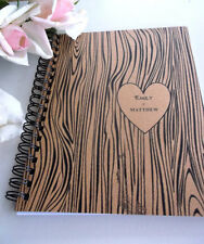 Woodgrain personalize Journal Blank Writing Journal Diary Notebook - 6 x 8 inch