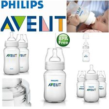 Avent Classic+ Slow Flow Teat Anti-Colic Baby Feeding Milk Bottle 260ml New