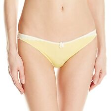 B.tempt'd by Wacoal Wrap Star Thong Brief Snapdragon Yellow 976143 Size XL NEW