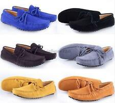 Comfy Mens casual Moccasin Loafer slip on comfort Faux suede boats Driving Shoes