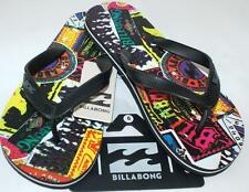 BILLABONG NEW TEENS BOYS Unisex Flip Flops Thongs Sandals Seventy 3 Surf Skate