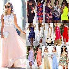 Multi Styles Womens Summer Ladies Boho Party Evening Beach Long Maxi Dress Tops