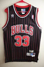Throwback Hardwood Jersey Scottie Pippen 33 Chicago Bulls Black Striped Men NWT