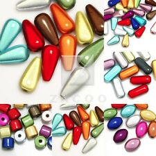 Mixed Acrylic Miracle Beads Spacer 3D Illusion Cylinder/Teardrop/Oval/Capsule