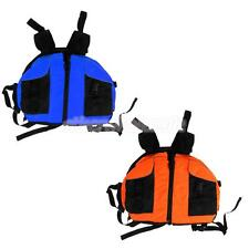 Buoyancy Life Jacket Vest PFD with Pockets Kayaking Boating Rafting Blue/Orange