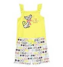 GYMBOREE GIRLS YELLOW CAT TOO FABULOUS TO FIT IN SHORTS GYMMIES PAJAMAS 2T 4 NWT