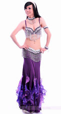 Belly Dance Costume 5PCS Bra&Belt&Skirt&Necklace&Armlet 34B/C 36B/C 38B/C 9color