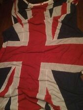 Very Large Vintage Hand Stitched Union Jack Flag