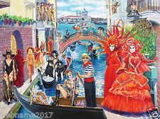 """Canvas print from Oil painting 2017 by Aleks Kontr """"Venetian Carnavale"""" 40""""x30"""""""