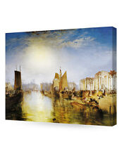 "DecorArts-""The Harbor of Diepp""William Turner.Fine Giclee Art Reproductions"