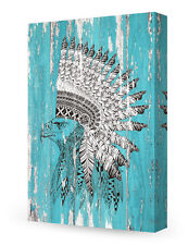 DecorArts-Canvas Prints Wall Art Eagle in feathered war bonnet