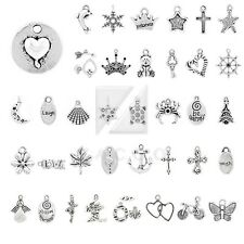 20-250pcs Tibetan Silver Spacer Metal Charm Pendant Jewelry Making 40 Style