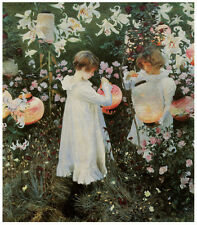 Sargent - Carnation, Lily, Lily, Rose (1885) Art Canvas/Poster Print A3/A2/A1