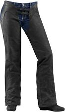 Icon Womens 1000 Hella Street Motorcycle Chaps Black All Sizes