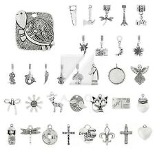 40 Style 5-80pcs Lots Tibetan Silver Metal Pendant Charm Fit Jewelry Findings