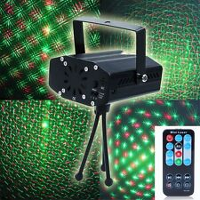 Mini LED Projector DJ Party Lights Home Disco Stage Green Red Music Strobe Light