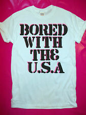 The Clash Bored With The USA punk rock t-shirt 1977 Clash Strummer seditionaries