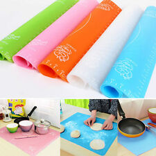 Silicone Rolling Cut Mat Sugarcraft Fondant Cake Clay Pastry Icing Dough ToolLAU