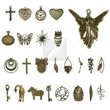 30 Style 2-35pcs Lots Antique Brass Metal Pendant Charms Supplies Jewelry Making