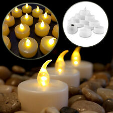 FLICKING 12/24Pc LED TEA LIGHT TEALIGHT CANDLE CANDLES FLAMELESS WEDDING BATTERY