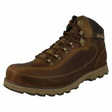 MENS CATERPILLAR HIGHBURY LEATHER LACE UP CASUAL EVERYDAY ANKLE BOOTS