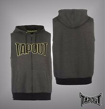 Mens Branded Tapout Printed Motif Training Sleeveless Full Zip Hoody Size S-XXL